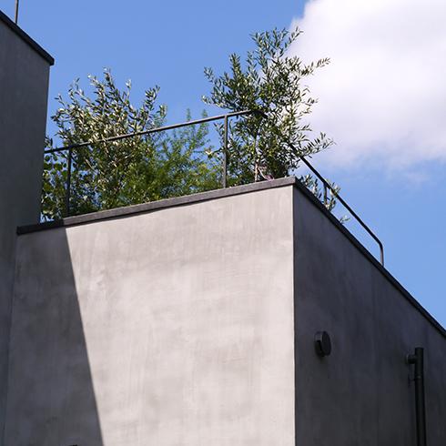 個人邸の屋上植栽の事例です。